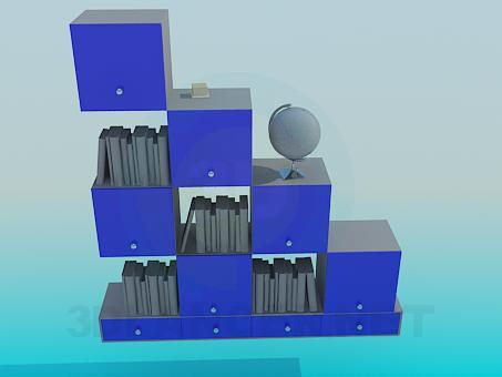 3d modeling Bookcase Art Nouveau model free download