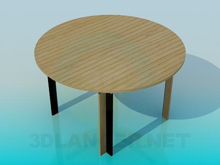 modelo 3D Mesa de comedor redonda - escuchar