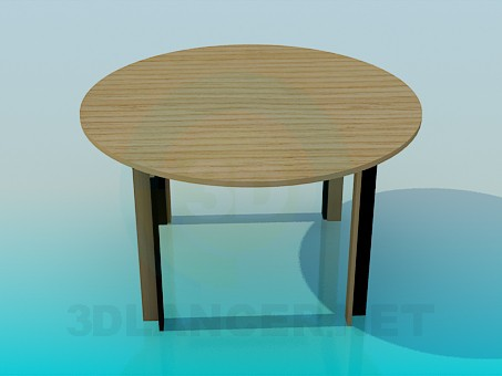 3d model Round dining table - preview