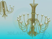Two large chandeliers in the set