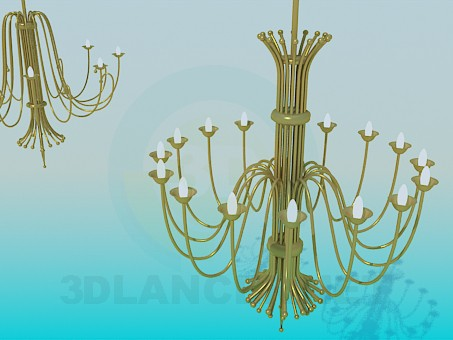 3d model Two large chandeliers in the set - preview