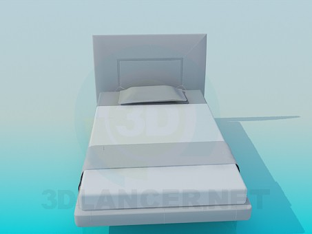 3d modeling twin-size bed model free download