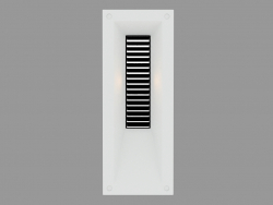 Recessed wall light MEGALINK VERTICAL WITH GRID (S4697)