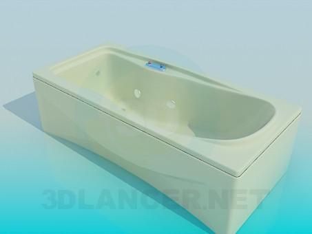 3d model Rectangular bath - preview