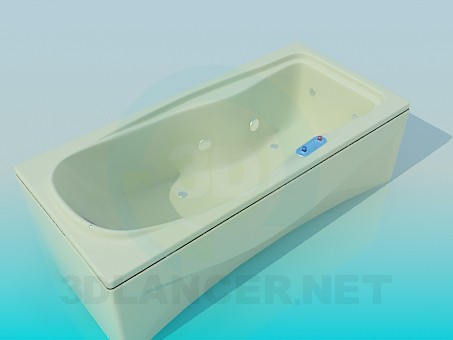 3d model Rectangular bath - preview