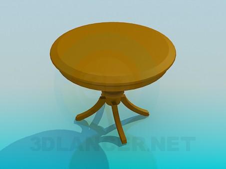 3d модель Круглий стіл триніг – превью