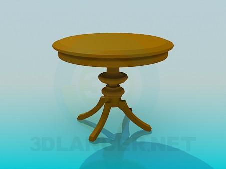 3d модель Круглый стол триног – превью