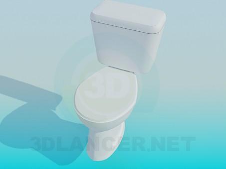 modelo 3D Simple baño con tina - escuchar
