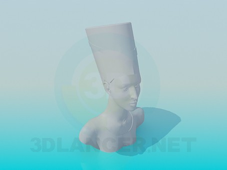 3d modeling A bust of the Queen model free download