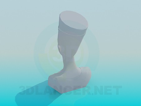 modelo 3D Un busto de la reina - escuchar