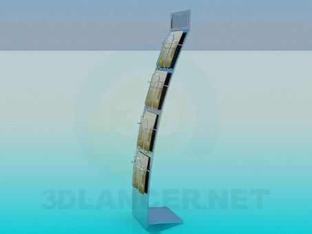 modelo 3D Soporte para folletos - escuchar