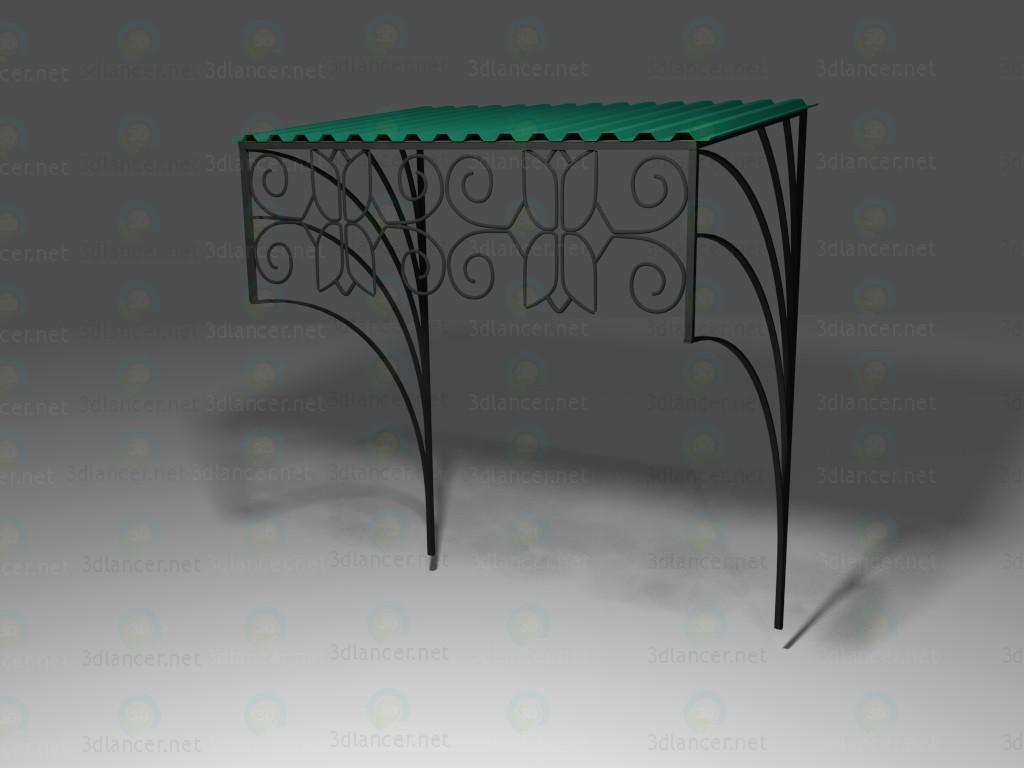 3d model Visor for entrance door_2 - preview