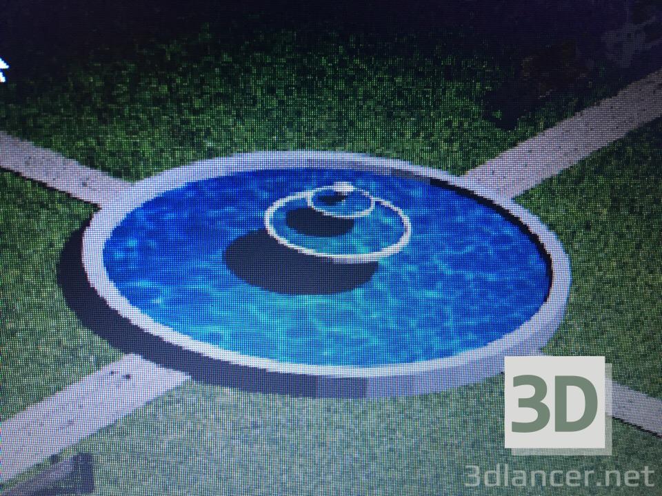 3 डी मॉडल फव्वारा - पूर्वावलोकन