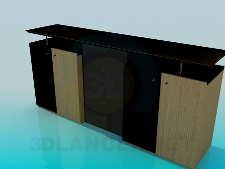 3d modeling Cupboard in the living room with TV model free download