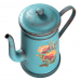 3d model Retro coffee pot with grunge texture - preview