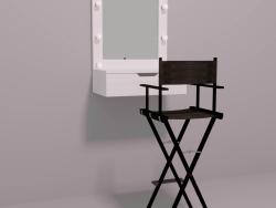 Miroir de maquillage et chaise de maquillage