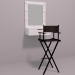 3d Makeup mirror and makeup chair model buy - render