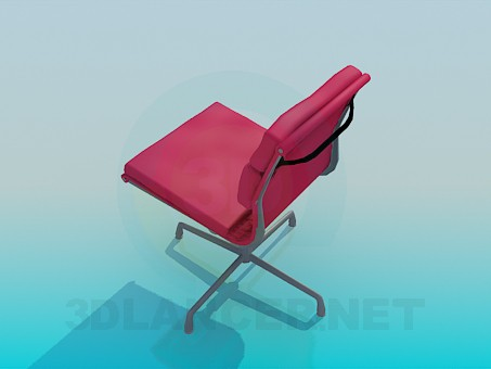 3d модель Крісло з м'якими вставками – превью