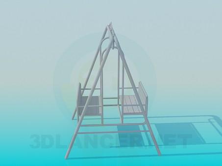 3d модель Гойдалки – превью
