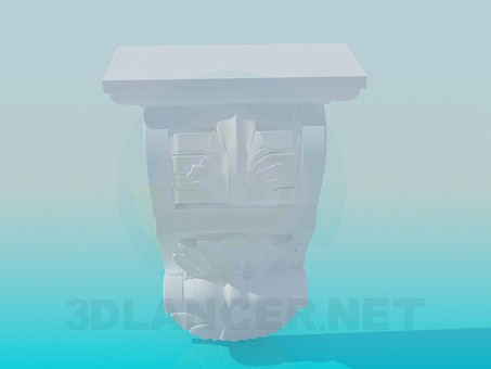 3d modeling Element of the cornice model free download