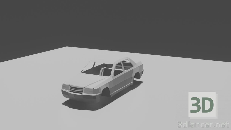 3d Mercedes-benz w 124 model buy - render