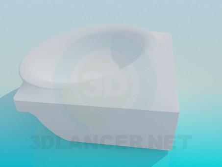 3d модель Кутовий умивальник – превью