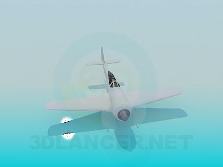 3d модель Одномісний літак – превью