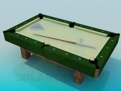 Un tavolo da biliardo piccolo
