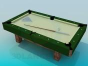Uma pequena mesa de bilhar