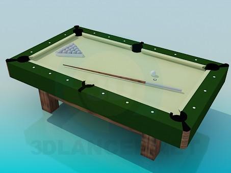 3d модель Небольшой бильярдный стол – превью