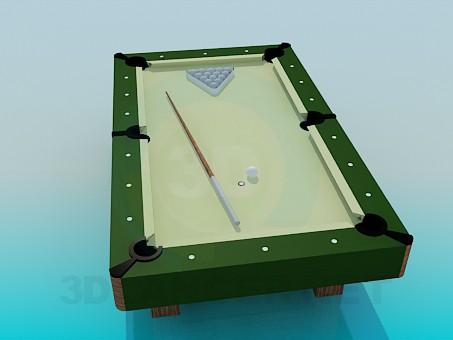 modelo 3D Mesa de billar pequeña - escuchar