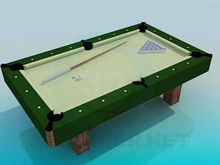 3d model A small billiard table - preview
