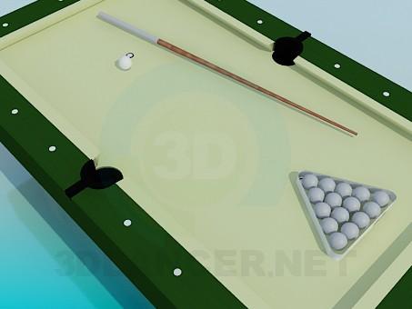 3d модель Невеликий більярдний стіл – превью