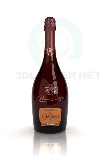 3d модель Шампанське – превью