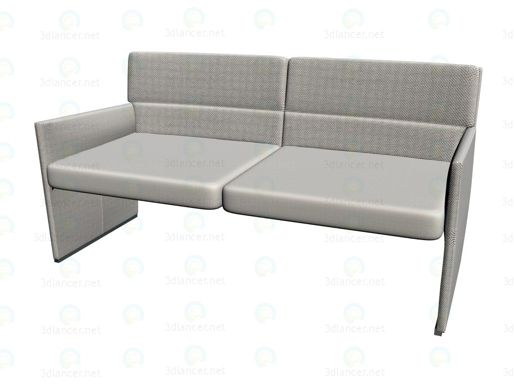 3d modell doppel sofa po155 vom hersteller b b italia posa id 14326. Black Bedroom Furniture Sets. Home Design Ideas