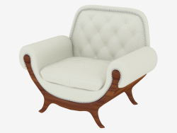 Classic armchair with soft armrests (art. JSL 3713a)