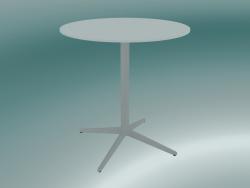Tavolo MISTER X (9506-01 (Ø70cm), H 73cm, bianco, bianco)