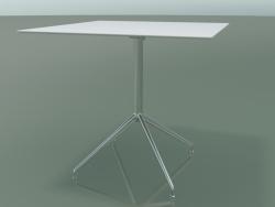 Tavolo quadrato 5742 (H 72.5 - 79x79 cm, steso, bianco, LU1)