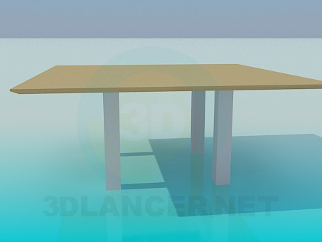 3d model Big table - preview
