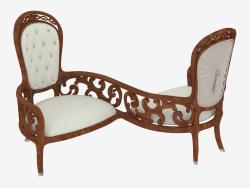 Doppel Stuhl im klassischen Stil (Art. JSL 4415-1)