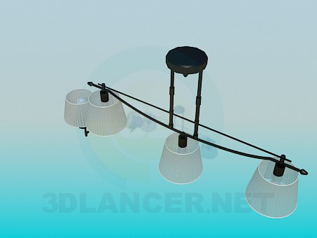 3d model Chandelier and wall brackets included - preview