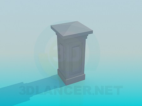 3d modeling Column with angles model free download