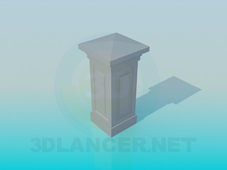 3d model Column with angles - preview