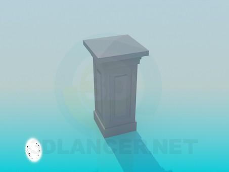 modelo 3D Columna con ángulos - escuchar