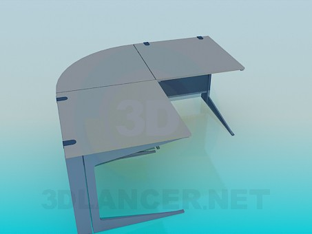 3d модель Угловой стол – превью