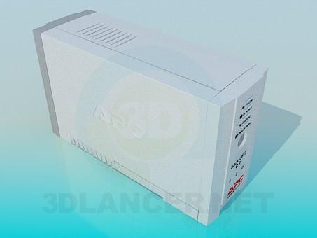 modelo 3D Fuente de alimentación ininterrumpida (SAI) APC - escuchar