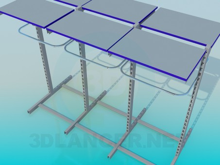 3d modeling Shelving Metal Trading model free download