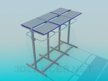 modelo 3D Estanterías metálicas de comercio - escuchar