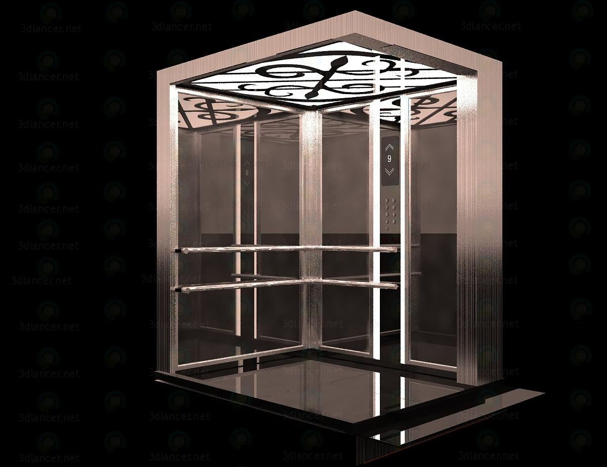 modèle 3D Ascenseur - preview