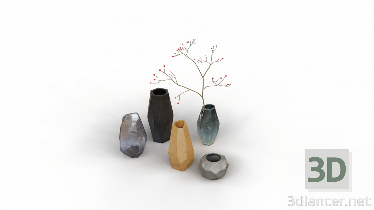 3d Vases model buy - render